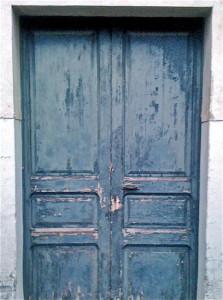 Tür in Blau